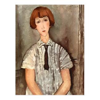 Modigliani Girl with Blouse 2015 Calendar Postcard