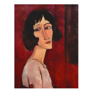 Modigliani Portrait of Magherita Postcard