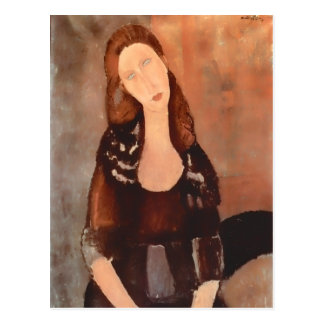 Modigliani Potrait of Jeanne Hebuterne Postcard