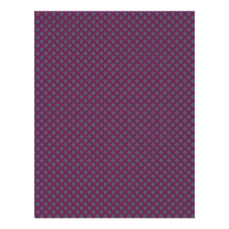 Modish blue leafs on retro purple background custom flyer