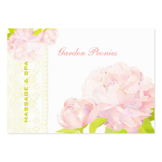Modish Peony + Faux Lace Business Appointment Card Pack Of Chubby Business Cards