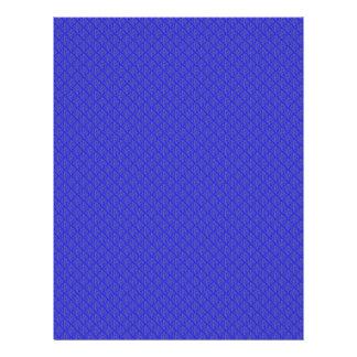Modish purple leafs on retro blue background custom flyer