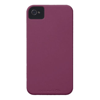 Modishly Masterful Maroon Color Case-Mate iPhone 4 Case