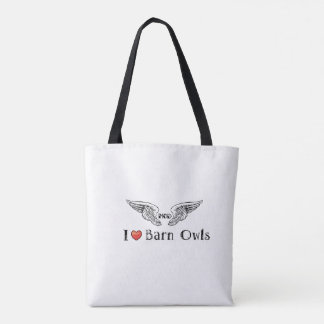 MODs Foundation I  Love (heart) Barn Owls Tote Bag