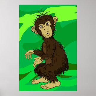 Moe Monkey Poster