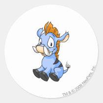 Moehog Blue stickers