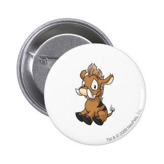 Moehog Brown 6 Cm Round Badge