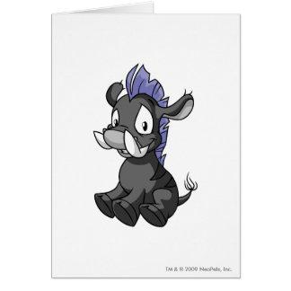 Moehog Shadow Greeting Card