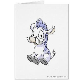 Moehog White Greeting Card