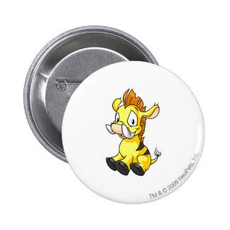 Moehog Yellow 6 Cm Round Badge