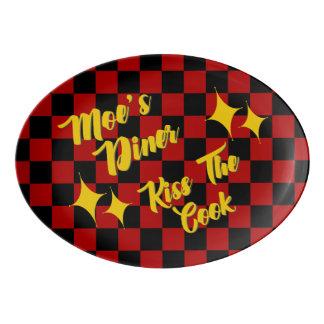 Moe's Diner Porcelain Platter Porcelain Serving Platter