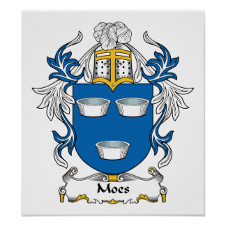 Moes Family Crest Poster