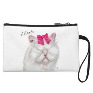 Moet the Blind Cat mini clutch Wristlets