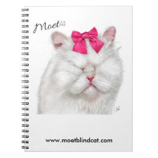 Moet the Blind Cat notebook