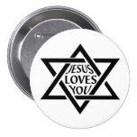 Mogan David Star - Jesus Loves You Pins