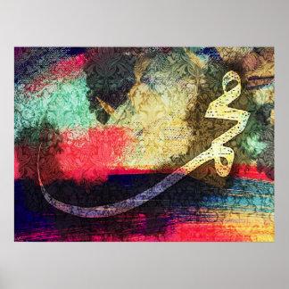Mohammed (pbuh), modern calligraphy... poster