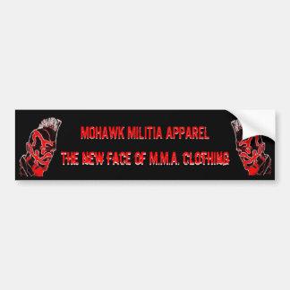 MOHAWK MILITIA APPAREL bumper sticker