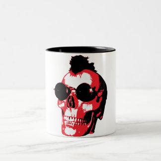 Mohawk Skull - Rock'n'Roll Two-Tone Mug