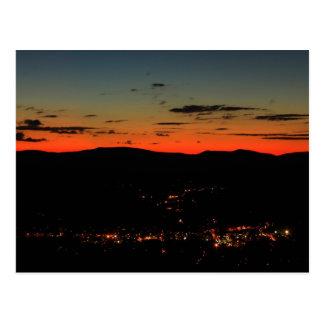 Mohawk Trail Hairpin Turn Twilight Postcard