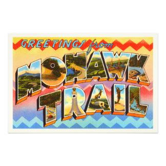 Mohawk Trail Massachusetts MA Old Travel Souvenir Art Photo