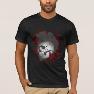 Mohawkin' Anarchy Skull T-Shirt