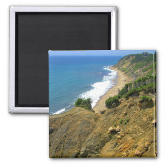 Mohegan Bluffs Block Island 2 Refrigerator Magnets