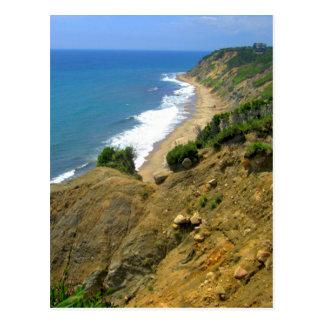 Mohegan Bluffs Corn Cove Postcard
