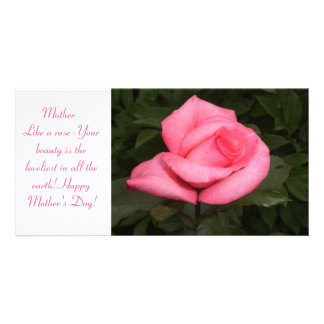 Mohter's Day Rose Photo Card