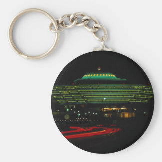 Moi Building, Riyadh, capital of Saudi Arabia Basic Round Button Key Ring