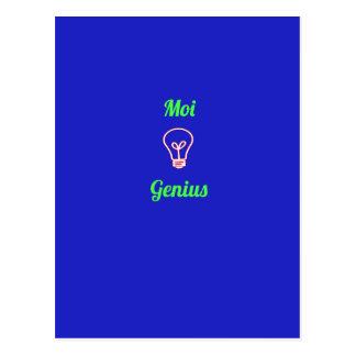 'Moi genius' Postcard