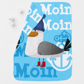 """""""Moin Moin"""" Seagull Baby Blanket"""