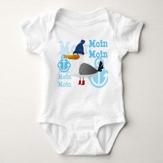 """Moin Moin"" Seagull Baby Bodysuit"
