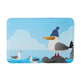 """""""Moin Moin"""" Seagull Bath Mat"""