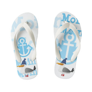 """Moin Moin"" Seagull Kid's Thongs"