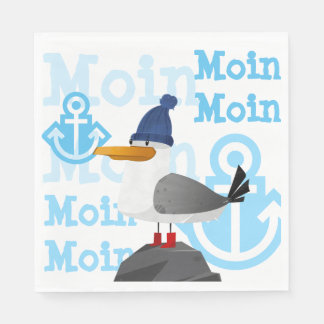 """Moin Moin"" Seagull Paper Serviettes"