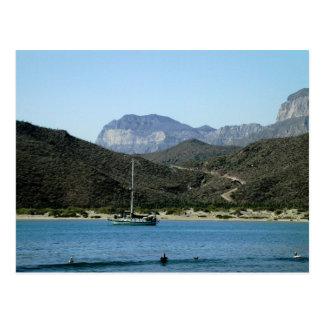 Moira at anchor, Evaristo, BCS, Mexico Postcard