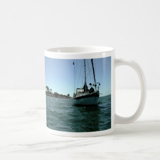 Moira at anchor off Altata, Mexico Basic White Mug