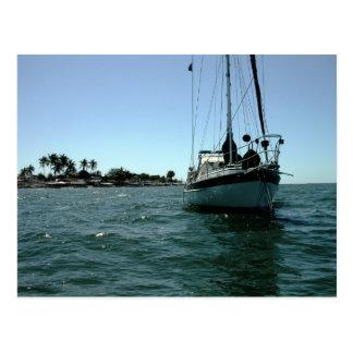 Moira at anchor off Altata, Mexico Postcard