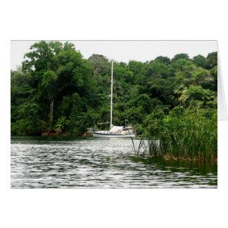 Moira at anchor, Rio Chagres, Panama Greeting Card