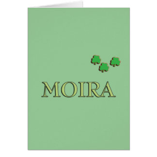 Moira Irish Girl Greeting Card