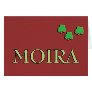 Moira Irish Girl Card