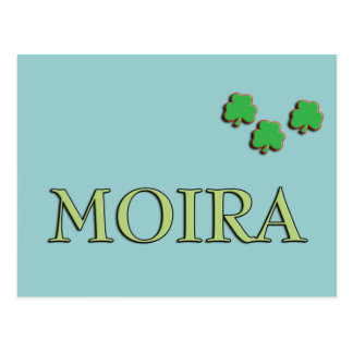 Moira Irish Girl Postcard