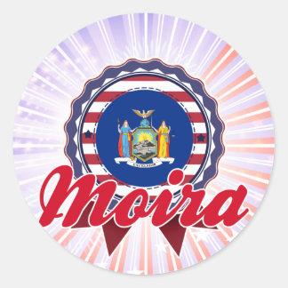 Moira, NY Round Stickers