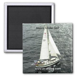 Moira Under Sail Square Magnet
