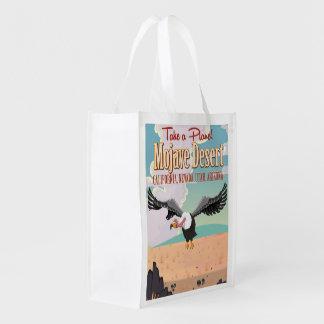 Mojave Desert cartoon travel poster