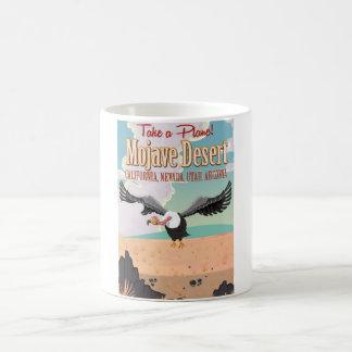 Mojave Desert cartoon travel poster Basic White Mug