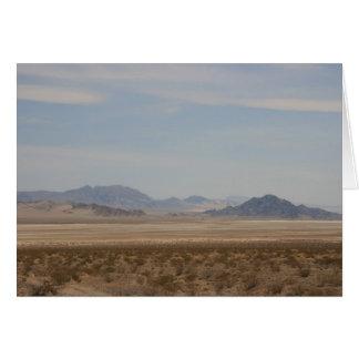 Mojave desert greeting card