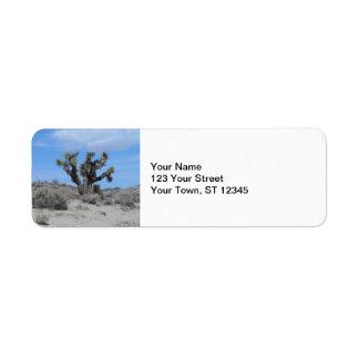 Mojave Desert Joshua Tree Return Address Label