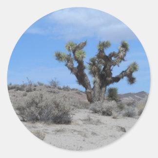 Mojave Desert Joshua Tree Round Sticker