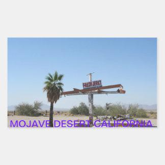 MOJAVE DESERT RECTANGULAR STICKER